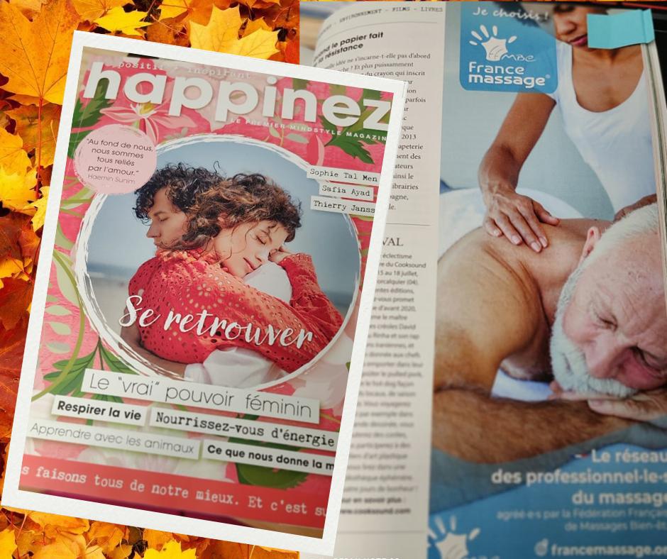 happinez - revue de presse France massage